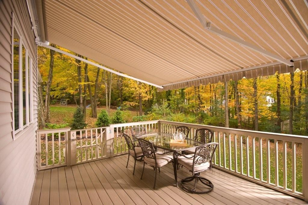 Retractable Awning Deck Looking Out